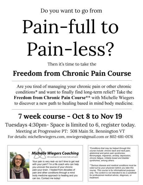 Chronic Pain Course, Bennington Flyer
